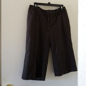 Nwot BR dark grey wool crop pants size 6